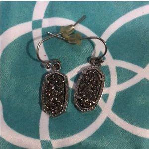 Kendra Scott Platinum Drusy Earrings